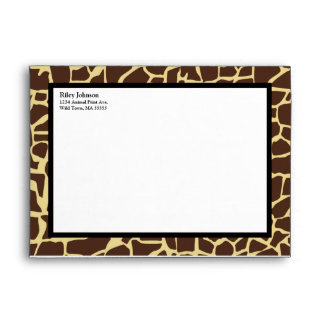 Hip and Chic Animal Print Envelope