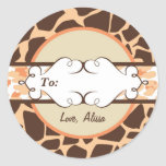 Hip and Chic Animal Print: Orange Stickers