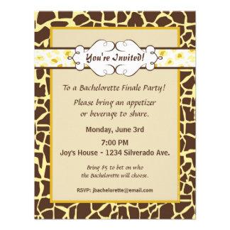 Hip and Chic Animal Print: Yellow Custom Invitation