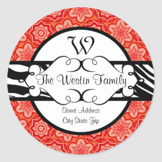 Hip and Chic Mixed Pattern Address Label Stickers