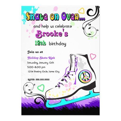Skate Party Invitation for beautiful invitations sample