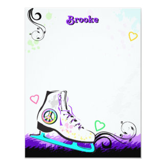 Hip and Colorful Ice Skate Note Card