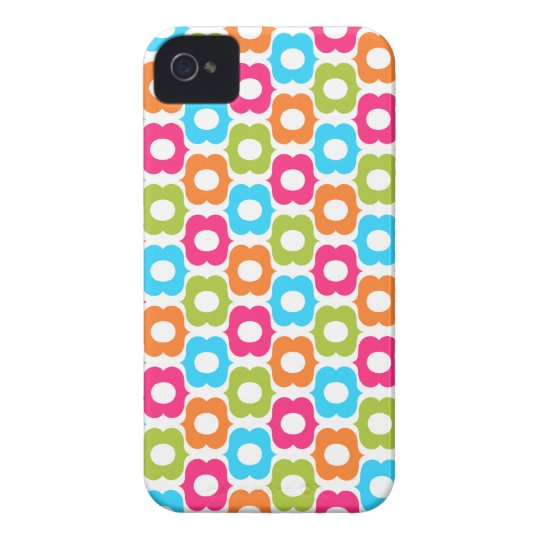 Hip and Colorful Pattern Design iPhone 4 Cover