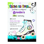 "Hip and Colorful Roller Skate Invitation 5"" X 7"" Invitation Card"