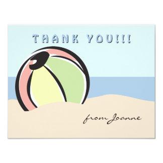 Hip and Fun Beach Ball Note Card Invitation