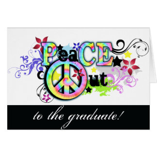Hip and Groovy PeaCE OUT Greeting Card