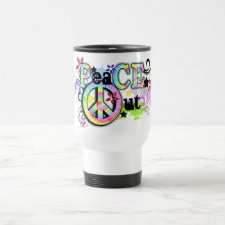 Hip and Groovy PeaCE OUT Travel Mug