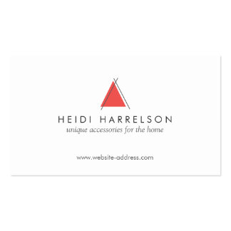 Hip and Minimal Triangle Teepee Home Logo Designer Business Card Template