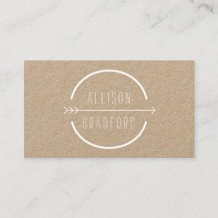 Hip business cards templates zazzle hip and rustic arrow logo on kraft ii business card colourmoves