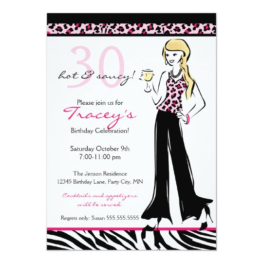 Hip and Sexy Young Woman Party Invitation