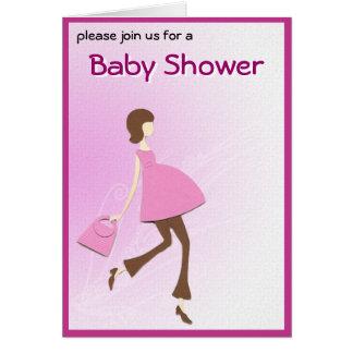 Hip Baby Shower Invitation Greeting Card
