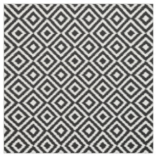 Black And White Abstract Fabric Zazzle