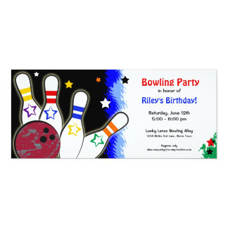Hip Bright Bowling Party Invitation