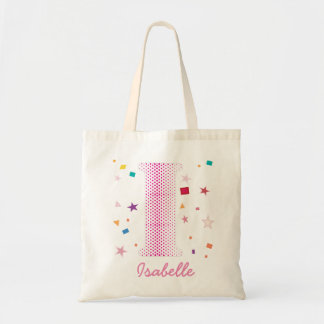 Hip Chic Baby Girl Custom Name Initials Letter I Tote Bag