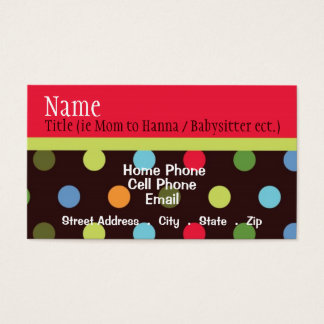 Hip Chick Business Card