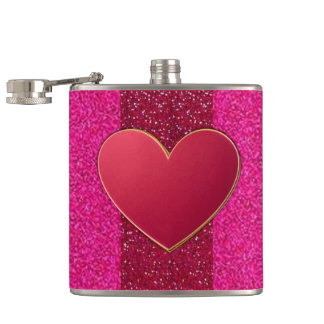 Hip Chick Red Heart Pocket Flask