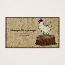 Hip Chicken, business card template