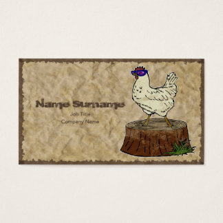 Hip Chicken, business card template