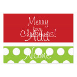 Hip Christmas Gift Tags Business Cards