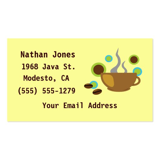 Hip Coffee Art Business Cards