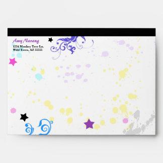 Hip Colorful 'N Groovy Splash Envelope