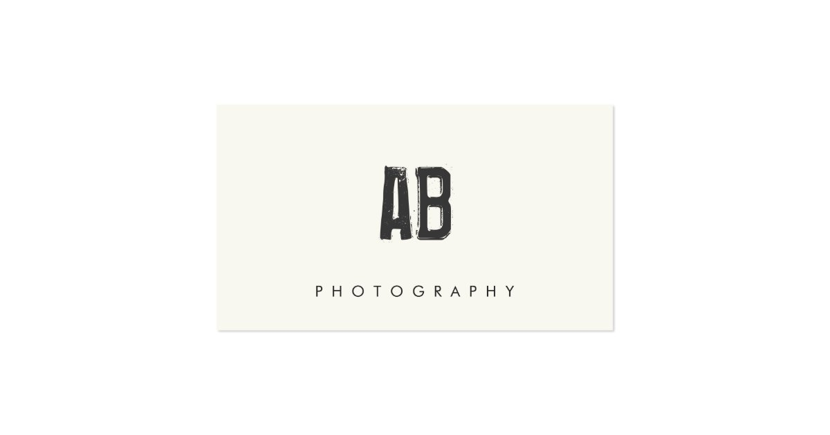 Hip cool and edgy simple black and white monogram for Edgy business cards