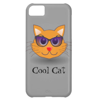 Hip Cool Cat with Beach Sunglasses Cover For iPhone 5C