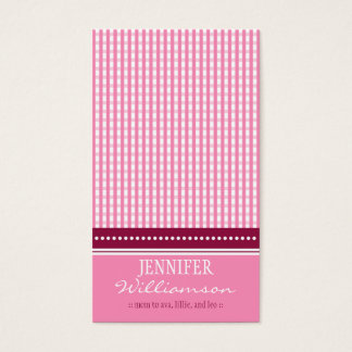 Hip Customized Gingham Mommy Calling Cards :: 03