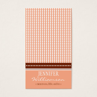 Hip Customized Gingham Mommy Calling Cards :: 04