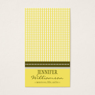 Hip Customized Gingham Mommy Calling Cards :: 05