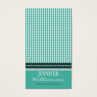 Hip Customized Gingham Mommy Calling Cards :: 06
