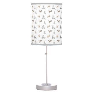 Hip Deer Pattern in Neutral Browns Table Lamp