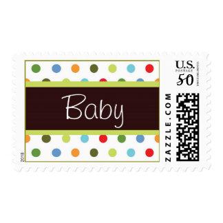 Hip dots Baby Shower Stamp