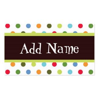 Hip dots customizable girls calling card business card templates