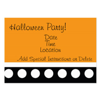 Hip Dots Halloween Party Inviation Large Business Cards (Pack Of 100)