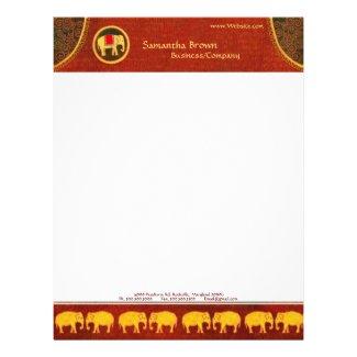 Hip Elephants Contemporary Business Letterhead