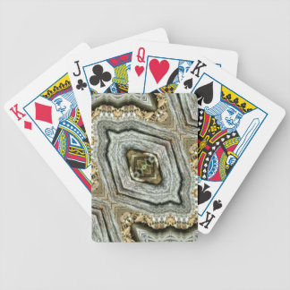 Hip Gray Tan Geod Masculine Kaleidoscope Bicycle Playing Cards