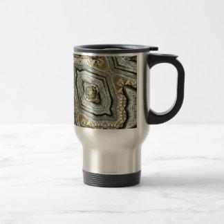 Hip Gray Tan Geod Masculine Kaleidoscope Travel Mug