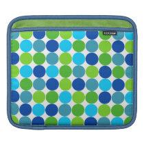 Hip Green Blue Polka Dot Sleeve For iPads