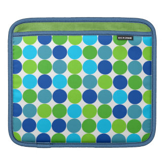 Hip Green Blue Polka Dot Sleeve For iPads