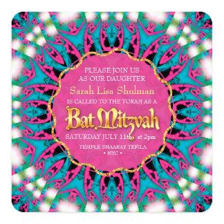 Hip Groovy Princess Bat Mitzvah Invitation