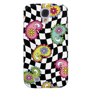 Hip Happy Paisley Checker fabric iPhone 3 cover