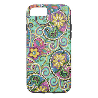 Hip Happy Paisley Teal iPhone 7 case