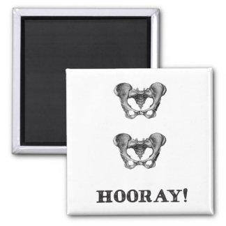 Hip Hip Hooray Anatomy Message Magnet