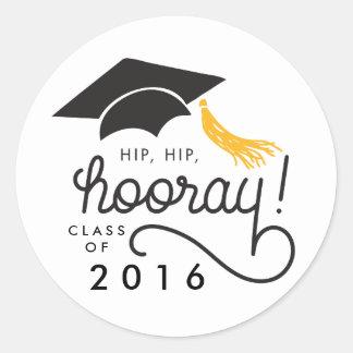 Hip Hip Hooray Class of 2016 Graduation Sticker