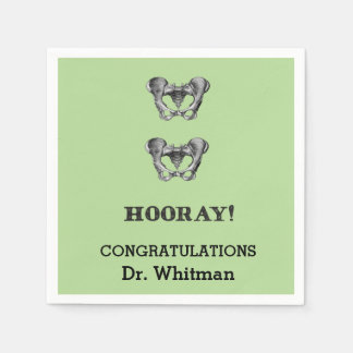 Hip Hip Hooray Personalized Graduation Napkin