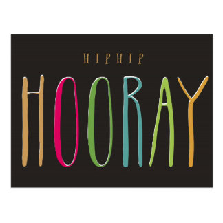 Hip Hip Hooray Postcard