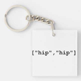 Hip Hip Hooray Programming Array Keychains
