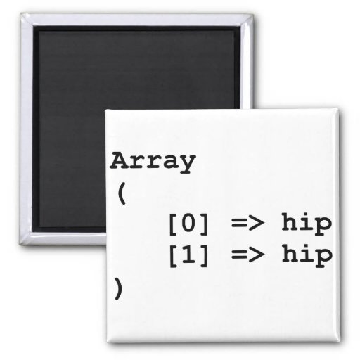 Hip Hip Hooray Programming Array 2 Inch Square Magnet