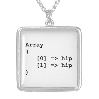 Hip Hip Hooray Programming Array Personalized Necklace